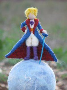 Little Prince Waldorf inspired Needle felted Little boy Prince soft sculpture Nursery Home decor Little Prince Party, The Little Prince, Nuno Felting, Needle Felting, Felt Angel, Doll Home, Felt Fairy, Waldorf Dolls, Fairy Dolls