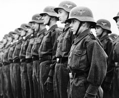 Members of the Hitler Youth in the Luftwaffe auxiliary service during training. Germany, February 1943