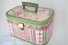 Vintage Upcycled Floral Carry On Train Case OOAK. $75.00, via Etsy.