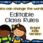 Time for new school rules!  These are editable (PowerPoint), bright, and come with a companion book for kids is available.  TpT $2