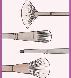 From the foundation brush to the powder brush, do you know you makeup brushes? Here's your guide to understanding your brush kit.