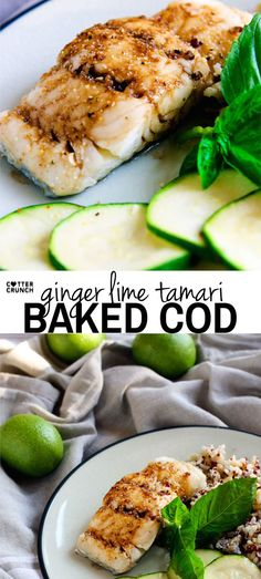 Ginger Lime Tamari Gluten Free Baked Cod with Tips for Seasoning ALL types of Fish