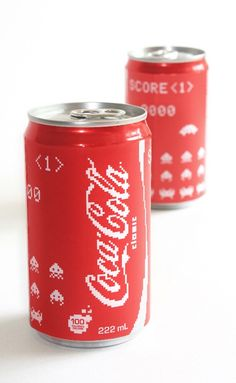Coca-Cola Cans Inspired By 'Space Invaders' - DesignTAXI.com