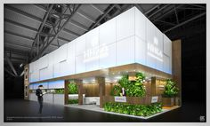 Exhibition stands on Behance Exhibition Stall, Exhibition Booth Design, Exhibition Display, Exhibit Design, Exhibition Ideas, Temporary Architecture, Architecture Design, Stand Modular, Exibition Design