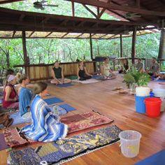 Meditating prior to receiving Kambo.  A Kambo ceremony in Nosara, Costa Rica