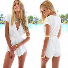 White lace playsuit <3