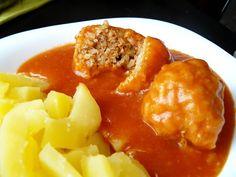 Vegyes saláta: Paradicsomos húsgombóc Curry, Food And Drink, Ethnic Recipes, Meal, Curries