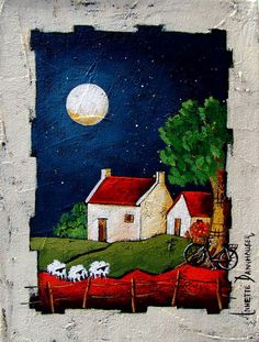 - Acrylic on Stretched Canvas - Acrylic on Stretched Canvas Artwork 300 x 230 Artwork 300 x 230 Art Houses, South African Artists, Angel Art, Barn Quilts, Stretched Canvas, Canvas Artwork, Mixed Media Art, Sd, Home Art
