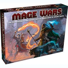 Mage Wars Game - What would it be like for Mages of vastly different schools and philosophies of magic to come together in an arena and fight to the death? Diy Games, Games To Play, Playing Games, Board Game Geek, Fun Board Games, Fantasy Board Games, Xmas Wishes, War Image, Rpg