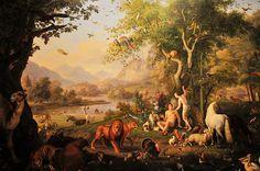 Adán y Eva en el Jardín del Edén, Wenzel Peter.