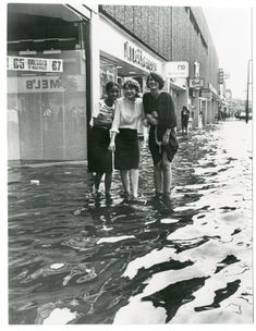 Haringey, flood in Wood Green, 1981 London History, British History, Vintage London, Old London, London Boroughs, History Images, Holiday Places, North London, London Life
