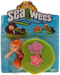 Sea Wees dolls at CollectToys.Net-- I totally adored my Sea Wees as a girl. 1980s Toys, Retro Toys, Vintage Toys, Care Bears, Childhood Toys, Childhood Memories, Nostalgia, Barbie, 80s Kids