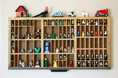 Old printer tray to store Lego people. Diy Gifts For Kids, Diy For Kids, Lego Minifigure Display, Letterpress Drawer, Printers Drawer, Lego People, Lego Room, Boys Bedroom Decor, Room Themes