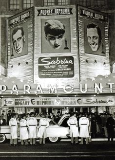 *The premiere of Sabrina, 1954~I loved this movie<3