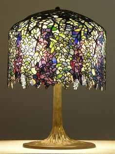 Tiffany Wisteria Lamp Museum Quality by michalsvondr on Etsy