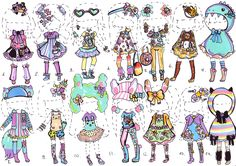 CLOSED- Kawaii Deco collection by Guppie-Adopts
