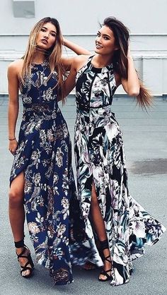 #summer #showpo #label #outfits | Floral Maxi Dress Party