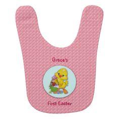 Baby Girl First Easter Bib by Elenaind #Zazzle