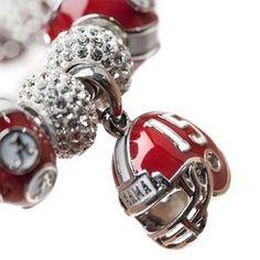 University of Alabama Bracelet - Charm Bracelet for this years graduates, new students and Alumni. Crimson Tide Forever Bracelet. #Rolltide  www.StoneArmory.com