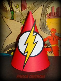 Hey, I found this really awesome Etsy listing at https://www.etsy.com/listing/193755258/10-flash-inspired-birthday-party-hats-dc