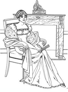 noblewomen_35 Adult and teen coloring pages