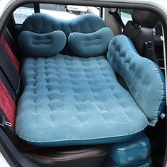 Go Camping, Camping Hacks, Outdoor Camping, Outdoor Sofa, Outdoor Travel, Inflatable Bed, Bed Cushions, Sofa Bed, Fit Car