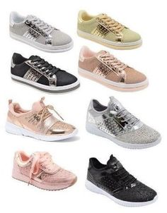 Woman Sneakers Fashion Casual Shoes Sequin Glitter Lace Up Fashion Walking  Shoe  86be20251f51