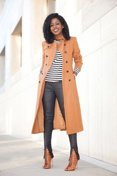 93f30a3ca4a Camel Coat x Stripes x Coated Jeans Moto Jeans, Cool Coats, Style Pantry,