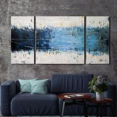 Oliver & James Hand-painted Canvas Art Set (3 Pieces) | Overstock.com Shopping - The Best Deals on Gallery Wrapped Canvas
