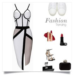 """Untitled #5"" by munira-968 ❤ liked on Polyvore featuring Giuseppe Zanotti, Jimmy Choo and Yves Saint Laurent"