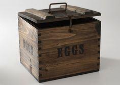 Storage Solutions - handmade filing cabinet. Repurposed old box