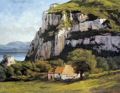 alongtimealone:  Cliffs at Ornans by Gustave Courbet