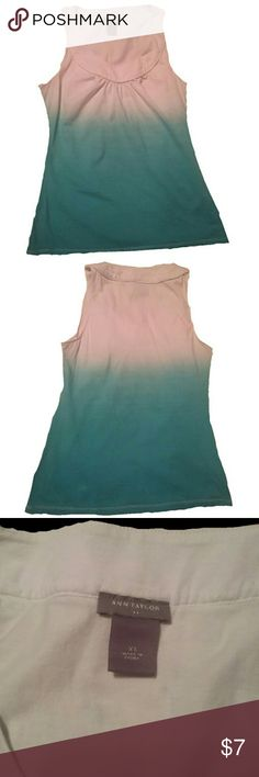 Ann Taylor xs extra small ombre turquoise top Nice Condition! Very cute for the summer with white trousers Ann Taylor Tops Tank Tops