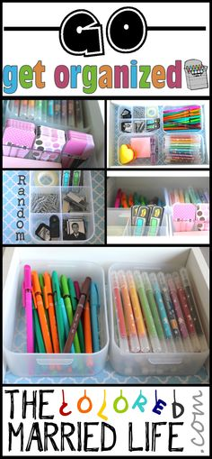 Organize a tiny drawer BEFORE/AFTER www.thecoloredmarriedlife.com