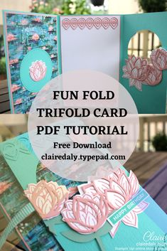 Click to download a PDF tutorial with measurements and step by step instructions with photos for this circle window card I designed. Claire Daly, Stampin' Up! Demonstrator Melbourne Australia.