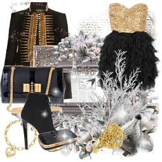 """Gold and Silver"" by yamyiy on Polyvore"