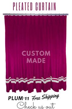 All sizes and colors available. Home Theater Curtains, Stage Curtains, Home Theater Decor, Types Of Curtains, Home Curtains, Pleated Curtains, Lined Curtains, Valance Curtains