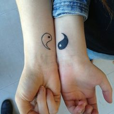 Pin for Later: 37 Matching Tattoos For Couples Who Want to Make a Small Statement Yin and Yang