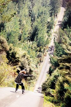 Steep, really steep Longboarding!