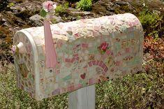 pink tiled mailbox