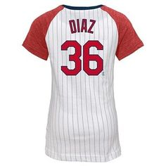 St. Louis Cardinals Girls' Aledmys Díaz Pinstripe T-Shirt Jersey - White XL, Multicolored White