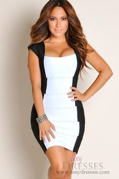 Designer+Sexy+Black+and+White+Panel+Bandage+Dress. This website has SUPER CUTE dresses and affordable too! :)