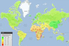 World Map of National IQ Scores ~ 40 Maps They Didn't Teach You In School | Bored Panda