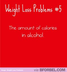 Weight loss problems- Alcohol