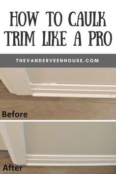 Home Renovation Hacks How to caulk trim like a pro! If you're looking for tips to caulk trim, this is it. These easy tips to caulk trim will make your interior look polished and professional. This is the easiest way to get beautiful baseboards and trim Home Improvement Loans, Home Improvement Projects, Home Projects, Home Improvements, Home Renovation, Basement Renovations, Louisiana, Caulking Tips, Do It Yourself Decoration