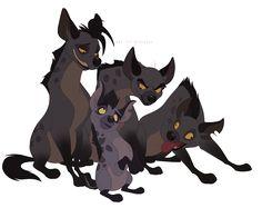 Omg! Janja's so little compared to thr original 3 hyenas!!