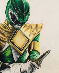 The Green Ranger by XylonMorenoArt on Etsy
