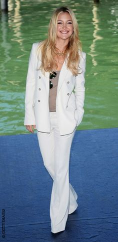 Kate Hudson. I love a white suit..