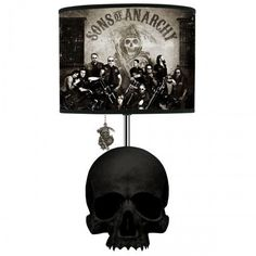 Sons of Anarchy Skull Table Lamp. Saw this in HMV. I need this, only with a different lamp shade.