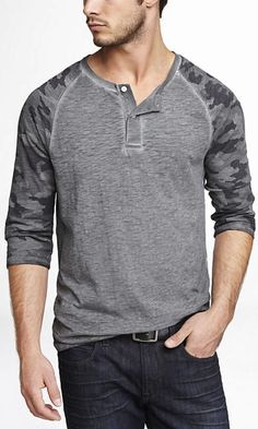 Express men's clothing gives you function and style in one. Check out our new men's fashion arrivals in suits, dress shirts, jeans, shirts and much more to update your men's style. Women's Henley, Henley Shirts, Mens Sweatshirts, Mens Tees, New Mens Fashion, Golf Outfit, Boys T Shirts, Shirt Designs, Men Sweater